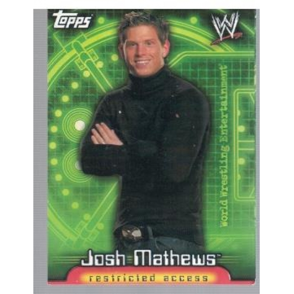 Wrestle Mania Josh Mathews